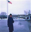 1963 Dec -  First snow, recruit grinder
