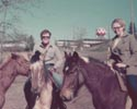 Carol Weir on Horseback at Bainbridge 1973